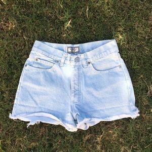 Light wash shorts